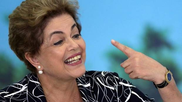 A Senate committee recommended on Friday that Brazil's President Dilma Rousseff be put on trial by the full chamber for breaking budget laws. (Eraldo Peres/AP)