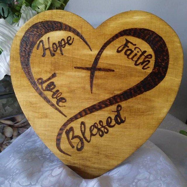 Download Heart Cross SVG Hope svg Faith svg Love svg Blessed SVG ...
