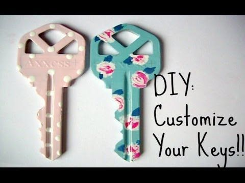 Cute! But I don't know how long it would last for... | DIY: CUSTOMIZE YOUR KEYS WITH NAIL POLISH!