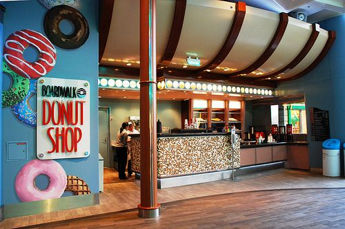 Boardwalk Donut Shop on the  Oasis of the Seas - Maci is totally ready for this!!!!!