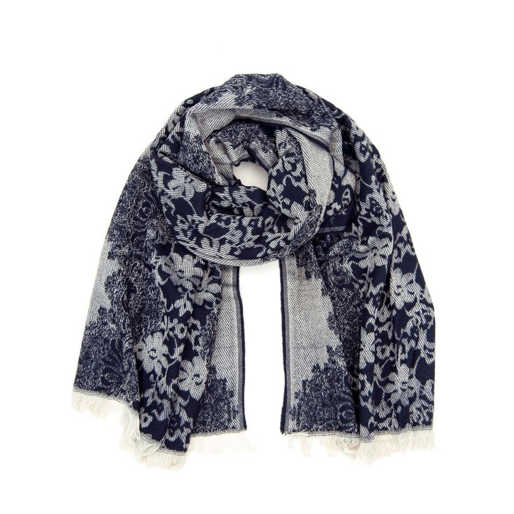 Scarf with floral pattern. #scarf #floral Szaleo.pl | Fashion & Accessories