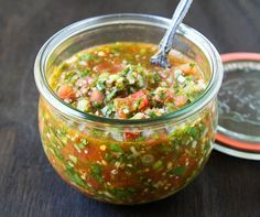 Pebre (Chilean Chili Salsa) Makes approximately 3 cups *Notes: This is the way Ms. M's grandmother taught her to make pebre. Ms. M is from Santiago, so her pebre may look very different from a peb...