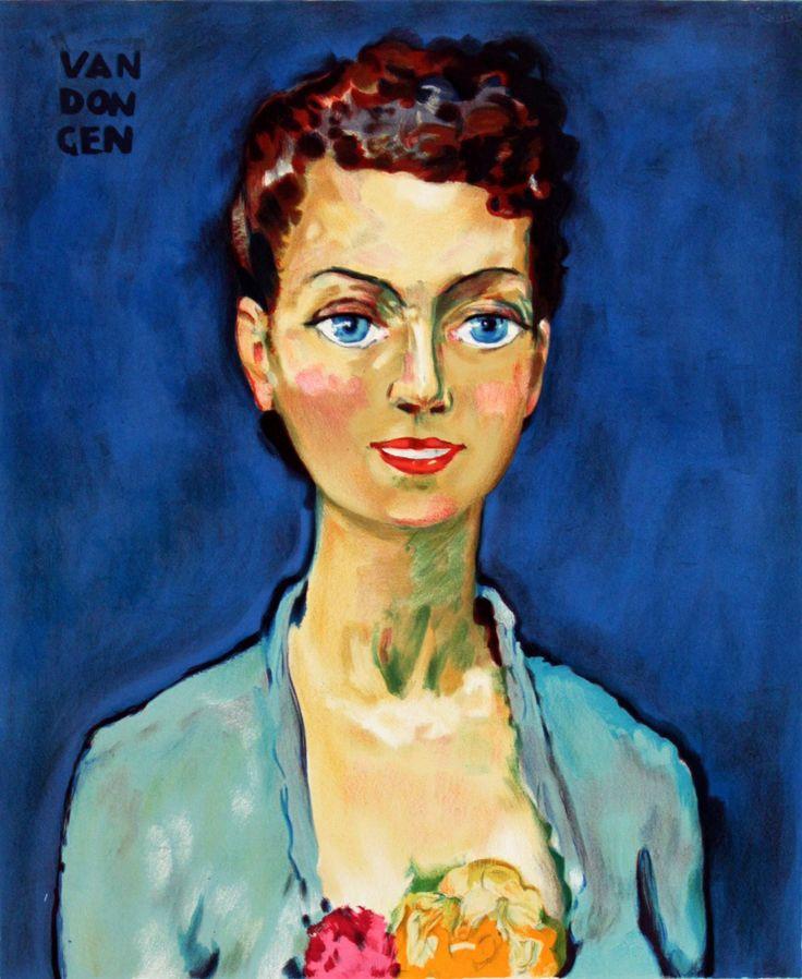 Kees van Dongen - Homage à Marie-Claire. Litho, c.1950