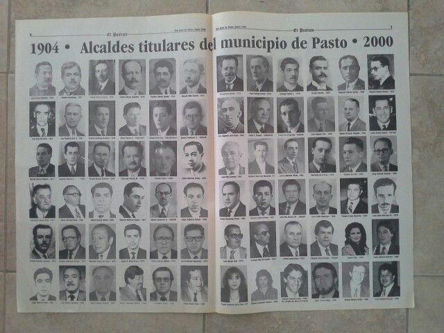 Alcades de Pasto entre 1904 y el 2000 donde aparece Juan Conto en 1968