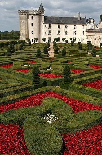 Chateau Villandry ~ famous for it's Renaissance garden laid out in formal patterns created with low box hedges. Owned by the Carvallo family.
