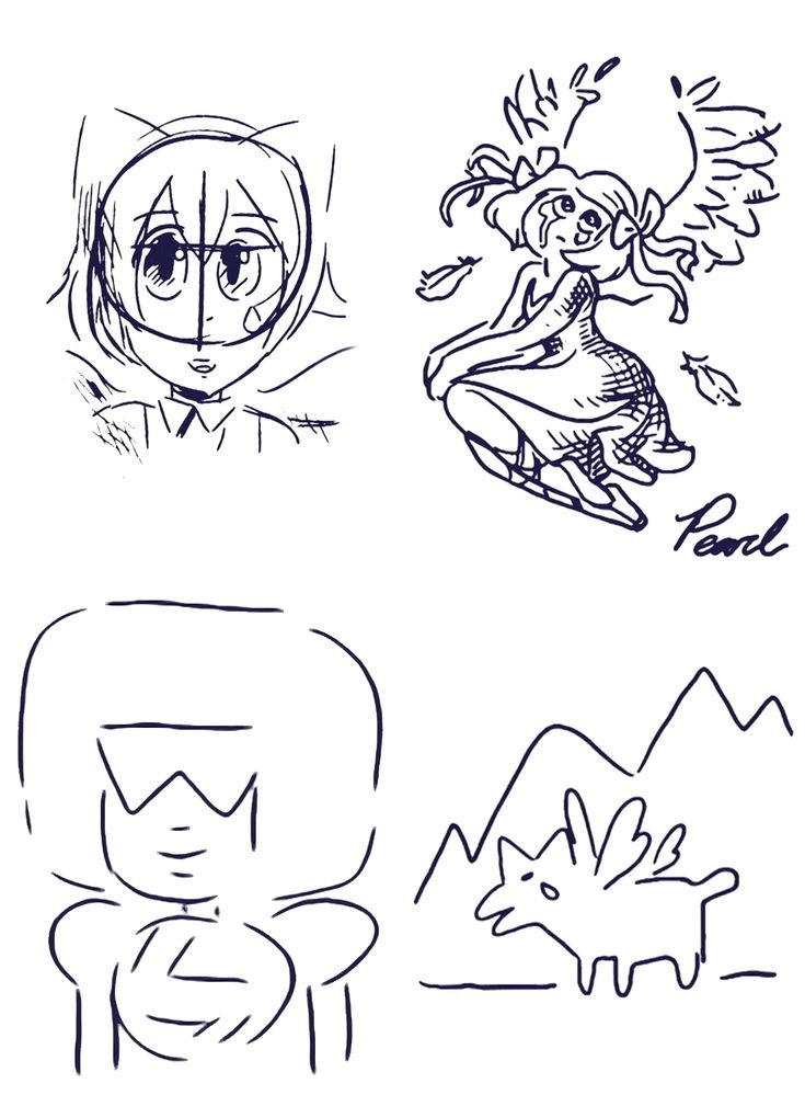 All Three Sketches Of Aquamarine, And One of Garnet | Steven Universe | Know Your Meme