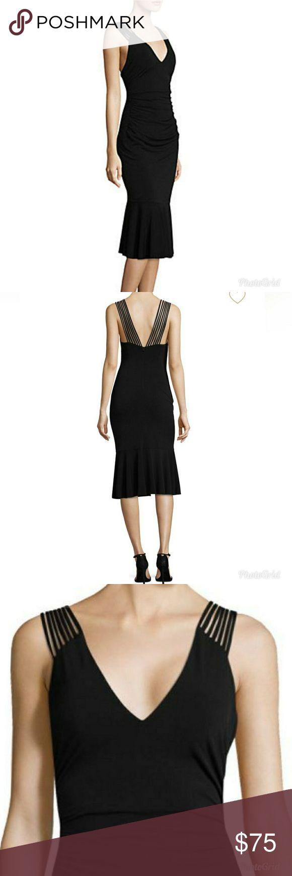 Laundry by Shelli Segal - Midi Dress  Brand new with tags! Black sleeveless jersey dress. Size 14. See above for dress details . Laundry By Shelli Segal Dresses Midi