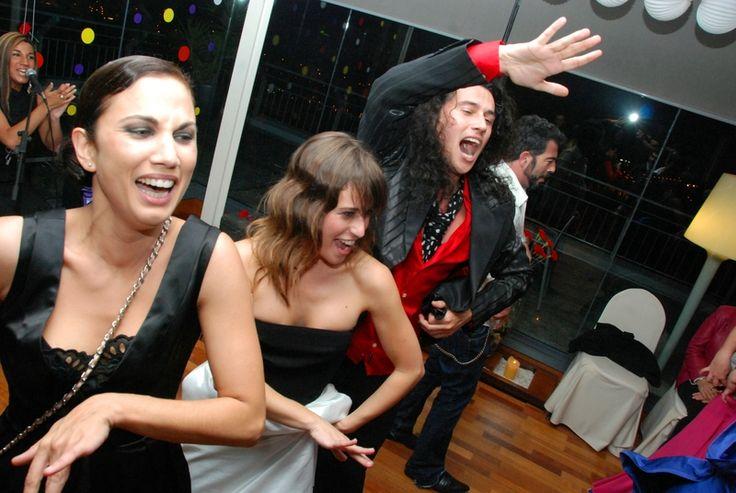 El bailaor Antonio de Verónica con las actrices Toni Acosta y Elena Anaya en el Hotel AC Málaga Palacio by Marriott