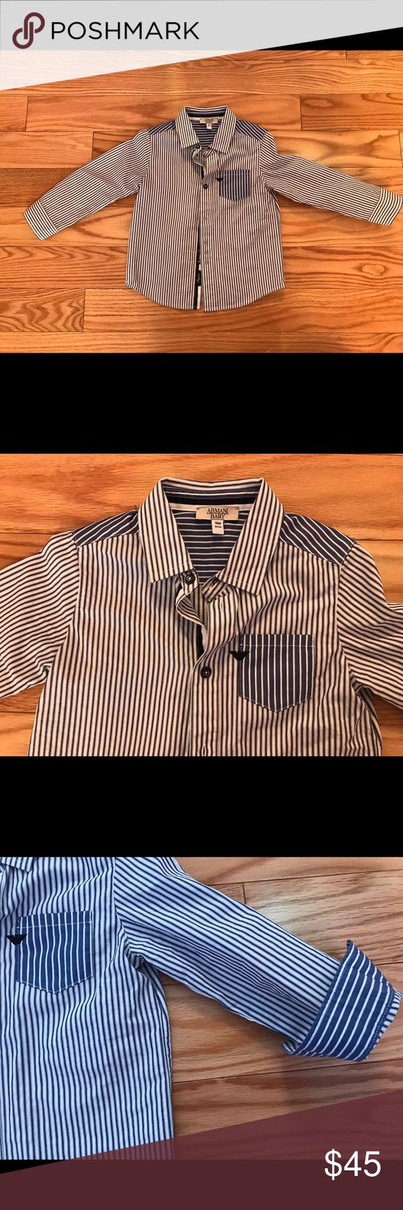 Armani baby boys dress shirt Dress shirt 82 cm Armani Junior Shirts & Tops Button Down Shirts