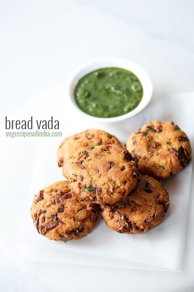 bread vada recipe with step by step photos - simple yet tasty recipe of vadas made with bread, spices and herbs.    bread vada is one of those quick and easy snacks that can be made with