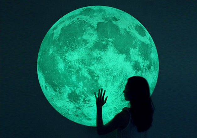 Wall Lights – MOONLIGHT / world's largest moonlight sticker - XL – a unique product by i3Lab on DaWanda