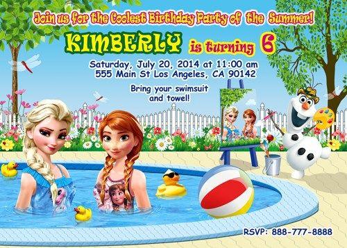 Frozen Birthday Party, Summer Frozen invitation