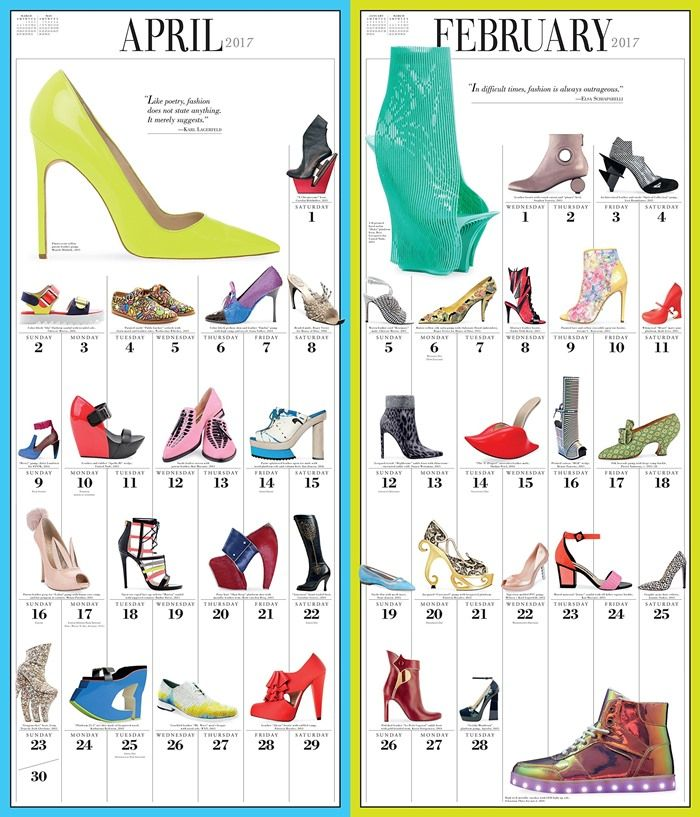 365 Days of Shoes Picture-A-Day Wall Calendar 2017
