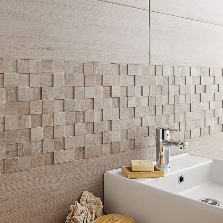 Destination du carrelage mur aspect mati re aspect bois for Faience salle de bain prix