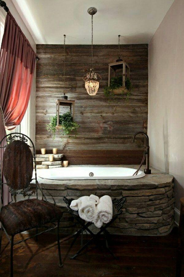 Rustic bathtub upgrade