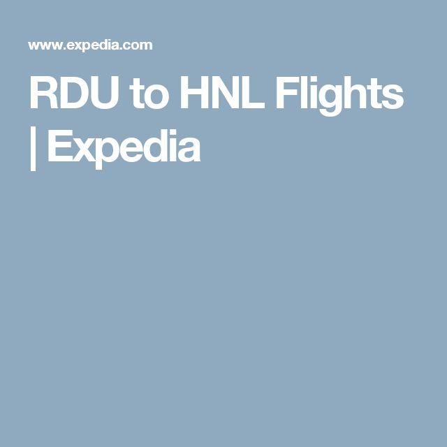 RDU to HNL Flights | Expedia