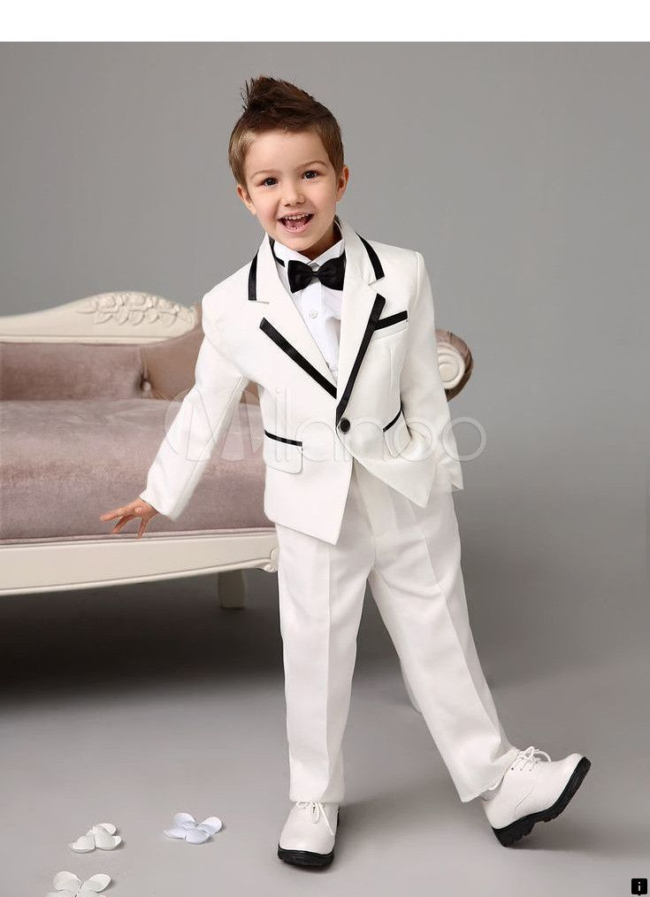 New Navy Blue 1-16 Ages Boy Suits 4 Pieces Kids Party Prince Tuxedos Custom