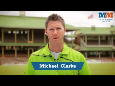 Australian Cricket Team Captain Michael Clarke and Mate v Mate ambassador has a special message for all the guys out there!     Have a listen to what Clarkey has to say by watching the video below: #hope #cancer #cricket #sport #health #quote #cause #event #charity