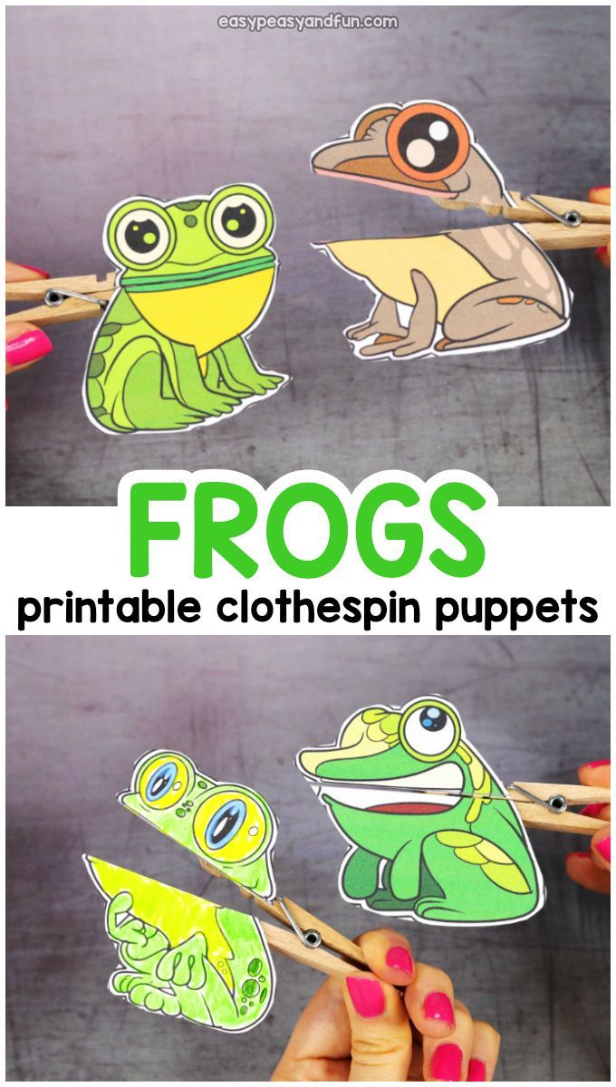 Frog Clothespin Puppets Puppets For Kids Spring Crafts For Kids Halloween Crafts For Kids