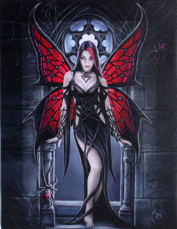 Gothic Spider Fairy Wall Plaque Art Print | Anne Stokes Fantasy Arachnafaria Wall Plaque