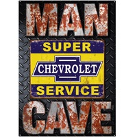Super Chevy Service Man Cave Tin Sign  http://www.retroplanet.com/PROD/38591