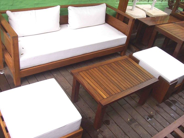 12 best images about livings de madera para exterior on for Sillones de jardin de madera