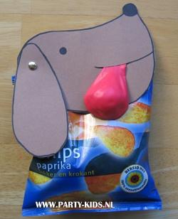 Kindergeburtstagsparty - Verpackung oder Verschluß für offene Tüte - Hond