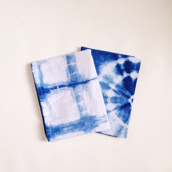 Shibori Indigo Blue Tea Towels by Ollie & Wren
