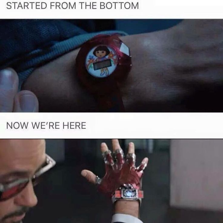 It would be funny if it was still the Dora watch and he upgraded it