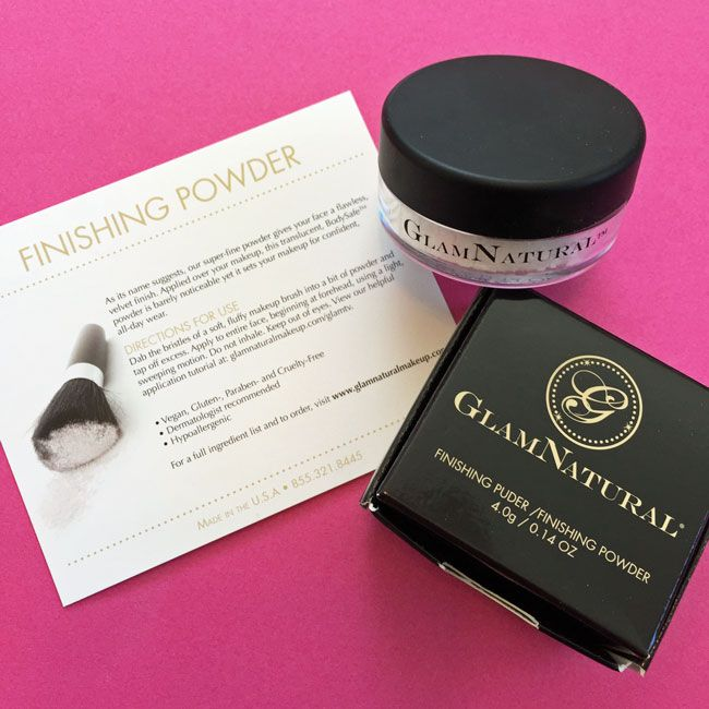 GlamNatural Finishing Powder  from Laritzy Cruelty Free Beauty Box - November 2015