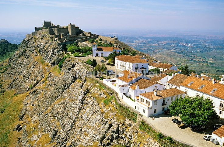 Aerial view of Marvão, a small historical village. Alentejo, Portugal