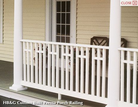What are some porch railing designs?