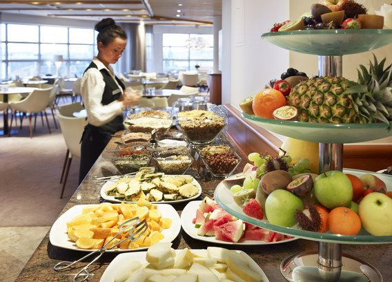 Riverside frukostbuffé @ Hotel Riverton