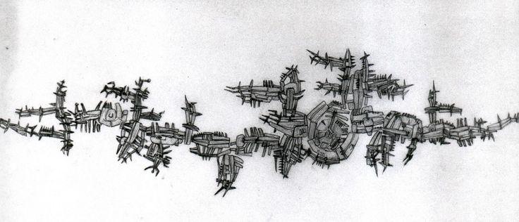 Untitled, 1956-1957 matita su carta da lucido, 47 x 98 cm (Foto Patrizio Parolini)