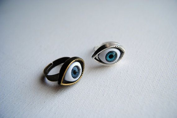 Evil Eye Ring  Silver or Bronze  Evil Eye Jewelry  by BeeesBeads, $8.00