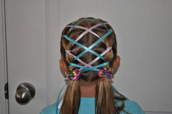 Enjoyable Young Girl39S Braids With Ribbons 227Cruz Com 408 395 1130 227 N Hairstyles For Women Draintrainus