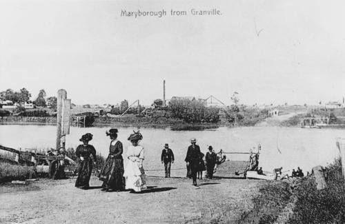 Granville ferry, Mary River, Maryborough, ca. 1907.