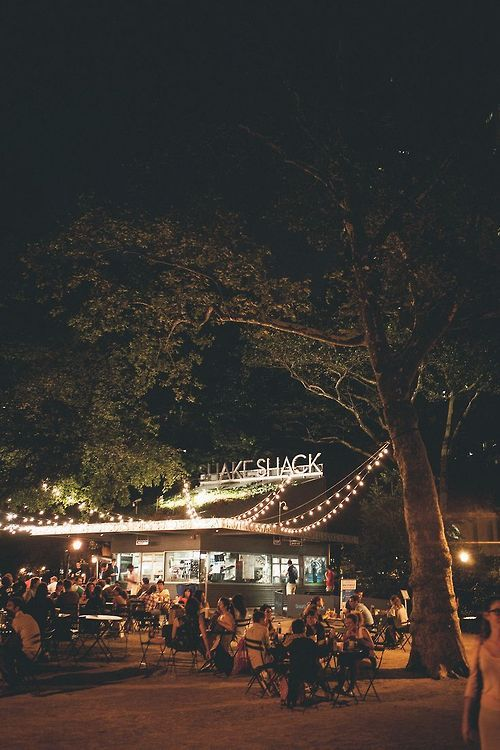 Shake Shack, Madison Square Park, NYC.  BEST SHAKE AND FRIES IVE EVER HAD.  because who isnt hungry on 10pm on a city night?