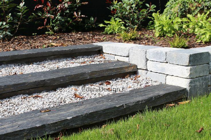 39 best jardin am nagement ext rieur par eden images on pinterest alsace decks and for Escalier exterieur jardin