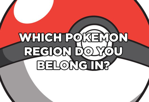 We Can Guess What Your Favourite Pokemon Region Is. KANTO FOREVER!