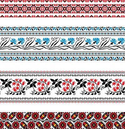 Русская вышивка в векторе 3