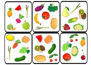 dobble, fruit, vegetables, game, spot it, vocabulary, owoce, warzywa, frutas, verduras, comida, Essen