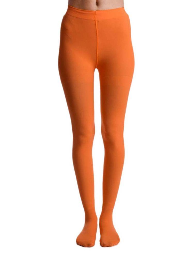 Shyle Orange Nylon Stockings