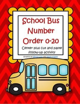 This is a set of school bus number order cards to make a center, or for a small group learning activity for early learners. Also included is a cut and paste follow up activity in b/w.
