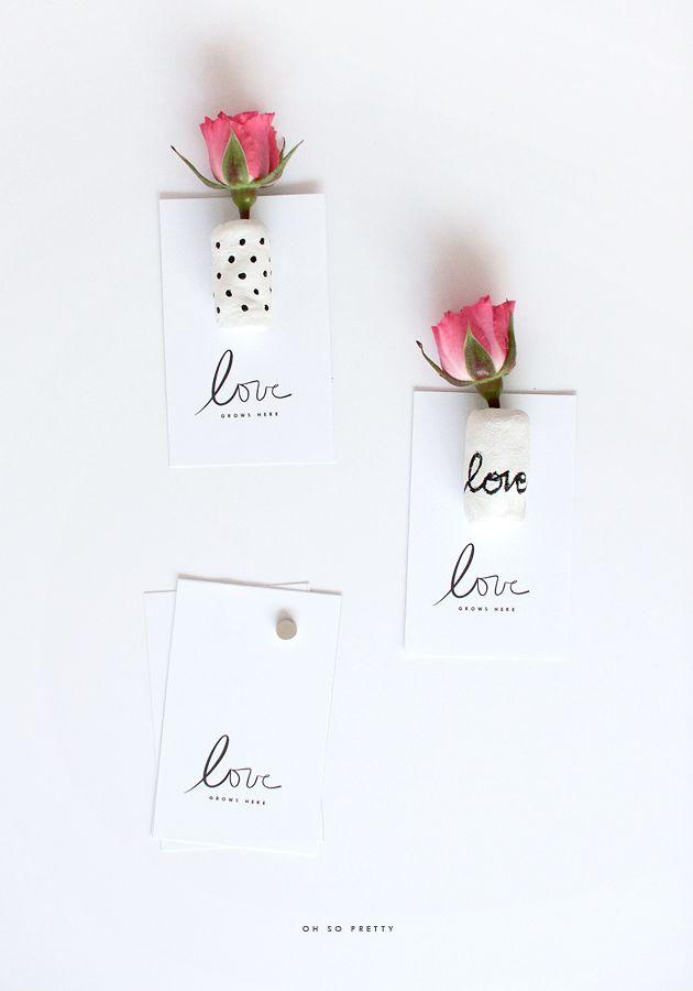 mini vase magnets diy / oh so pretty