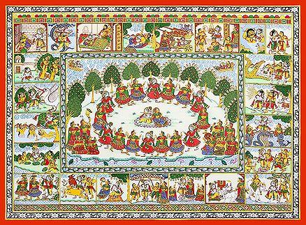 Kalyan Joshi - Krishna Lila @ Phad Chitra : Soul of Rajasthan   StoryLTD    #Indian #Art #StoryLTD