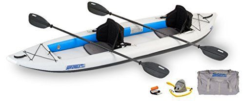 "The Pro Package features upgraded seats, upgraded paddles, a waterproof bag, and bow and stern storage bags. Interior: 11'7"" x 1'3"", Exterior: 12'6""x3', Deflated: 31"" x 19"" x 8"", Tube Diameter: 10"", Capacity: 2 Persons or 635 lbs., Weight:..."