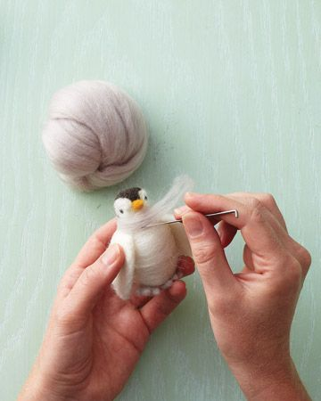 How to Make a Needle-Felted Penguin - Martha Stewart Holiday & Seasonal Crafts