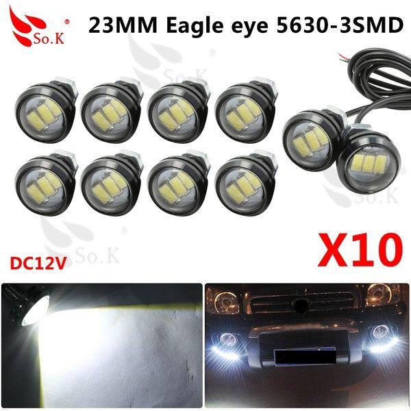 10pcs Car Styling 23mm Eagle Eye Daytime Running Light Led Car Lights Drl Lamp Daytime Light Waterproof Brake Lamps Car Lights Eagle Eye Car Lights Led