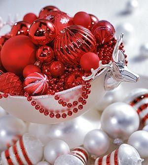 Rudolph Ramblings: Simple Christmas Centerpieces